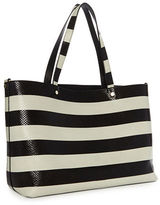 Luana Italy Carlyle Reversible Snake Embossed Leather Tote
