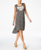 Style&Co. Style & Co Striped Crochet-Bib Dress, Only at Macy's