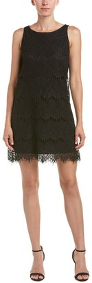 Tiana B Women's Scalloped Eyelash Lace Dress with Back Keyhole and Sleeveless