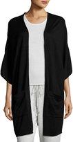 Neiman Marcus Oversized Patch-Pocket Cardigan, Black