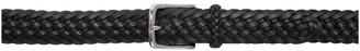 Ralph Lauren Purple Label Black Braided Leather Belt