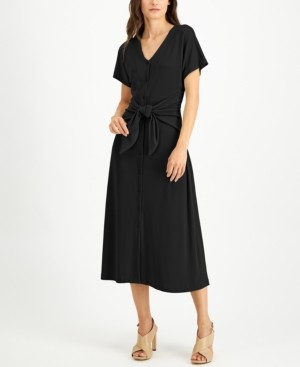 Alfani Tie-Front Dress, Created for Macy's