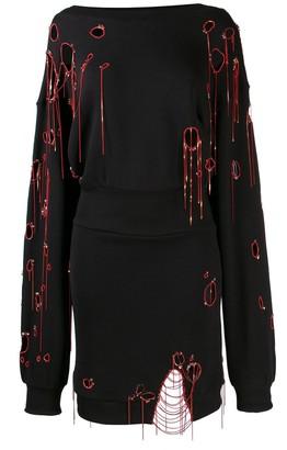 Faith Connexion Distressed Sweatshirt Dress