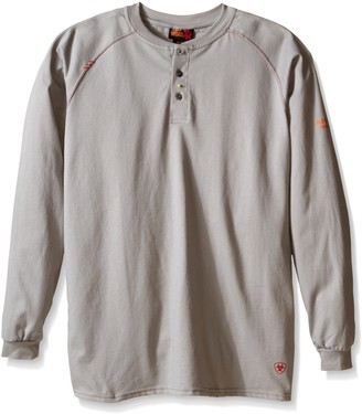 Ariat Men's Big and Tall Flame Resistant Work Henley