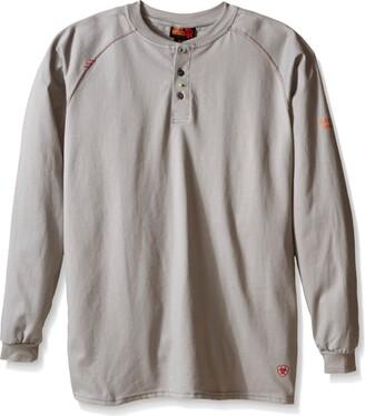 Ariat Men's Big Flame Resistant Work Henley Shirt