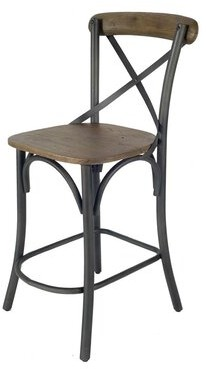 "Boronda Solid Wood 28"" Bar Stool Gracie Oaks"