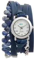 La Mer Women's Stone & Leather Wrap Strap Watch, 22Mm