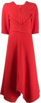 Sophisticated Perfection draped midi dress