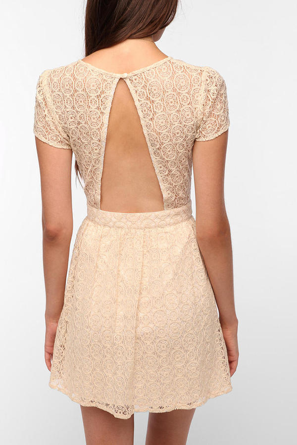 Urban Outfitters Pins and Needles Geometric Lace Dress