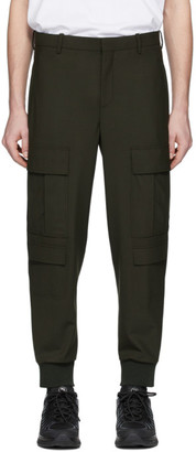Neil Barrett Khaki Wool Cargo Pants