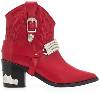 Toga Pulla Western Ankle Boots