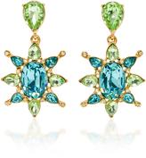 Oscar de la Renta Aqua Tropical Bloom Star C Earring