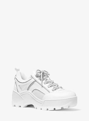 Michael Kors Brooke Leather And Scuba Trek Sneaker