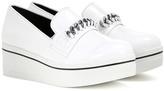 Stella McCartney Embellished faux leather platform slip-on sneakers