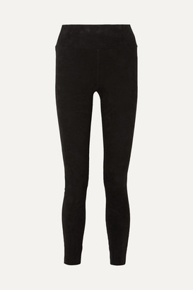 Sprwmn Suede Leggings - Black