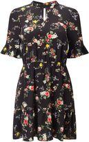 Miss Selfridge Petites Black Floral Tea Dress