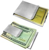 Stylejewelry Stainless Steel Money Clip and Credit Card Holder Two Sizes