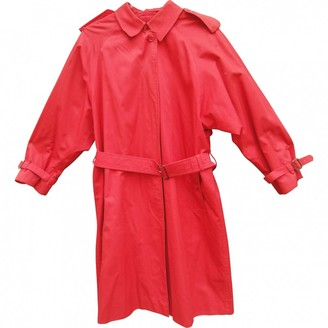 Burberry Red Cotton Coats