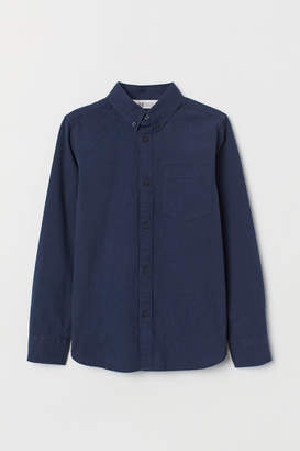 H&M Seersucker Shirt - Blue