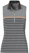 Ralph Lauren Rlx Golf Striped Jersey Sleeveless Polo