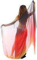 Pealiker 210cmx 110cm Chiffon Belly Dance Accessories Shawl Veil Scarf Prom Wrap Draping
