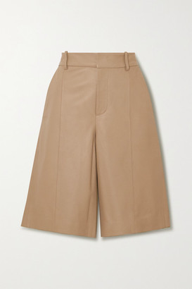 Vince Leather Shorts - Beige