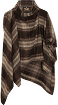 Vivienne Westwood Gaia Brushed Knitted Cape - Brown