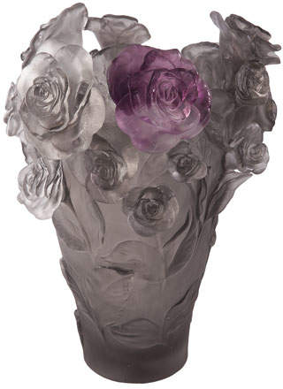 Daum Rose Passion Medium Vase