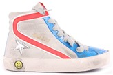 Golden Goose Deluxe Brand Slide Suede Tricoulour Trainers with Zip