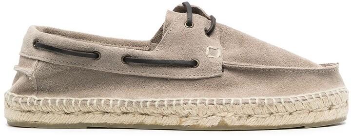 Manebi Hamptons espadrille-style boat shoes