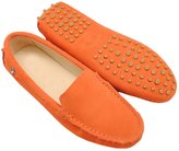 Minitoo TYB9601 Women's Round Toe Suede Leather Loafers Boat Shoes Ballet Flats Loafers Light