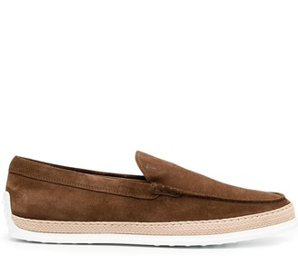 Tod's Monogrammed Slip-On Shoes