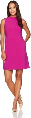 Ellen Tracy Women's Petite Size Seamed Mock Neck Dress
