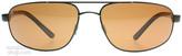 Serengeti Livigno Sunglasses Satin Black Grey Stripe 7769 Polariserade