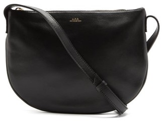 A.P.C. Maelys Leather Cross-body Bag - Black
