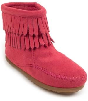 Girls Pink Fringe Boots - ShopStyle