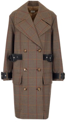 Burberry Houndstooth Double-Breasted Coat