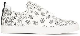 Pierre Hardy Paisley Print Slip-On Sneakers