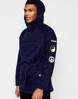 Love Moschino Overcoat Moleskin With Patches