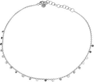 Tiny Dot Silver Choker Necklace