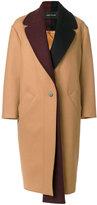 Cédric Charlier contrast collar coat