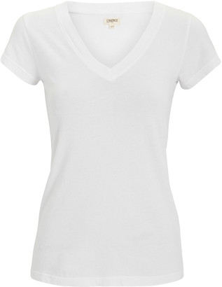L'Agence Becca V-Neck Cotton T-Shirt