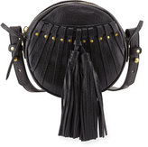 Cynthia Vincent Billy Leather Tassel Canteen Bag, Black