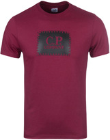 Cp Company Blackcurrant Stamp Print T-shirt