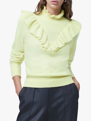 French Connection Mira Flossy Knitted Frill Jumper