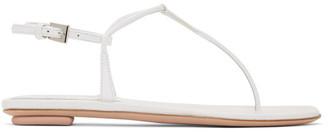 Prada White T-Strap Sandals