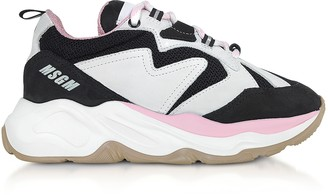 MSGM Black & Pink Attack Sneakers
