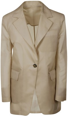 MSGM Single-buttoned Long Blazer