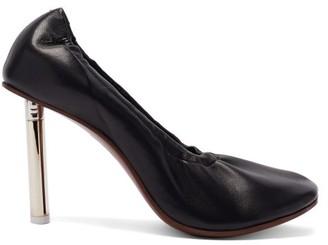 Vetements Lighter-heel Leather Ballerina Pumps - Black