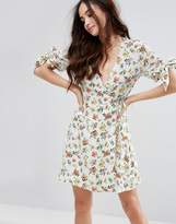 Fashion Union Mini Dress With Frills In Floral
